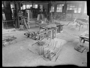 Gispen factory. Culemborg, ca. 1934-1970. Collection Het Nieuwe Instituut, Gispen archive. GISP n236 RAM19 Rotterdam Architectuur Maand Neulab